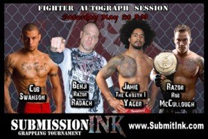 Submission Ink Grappling Tournament Autograph session announced