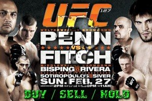 UFC 127 Stock Report: Should You Buy/Sell or Hold