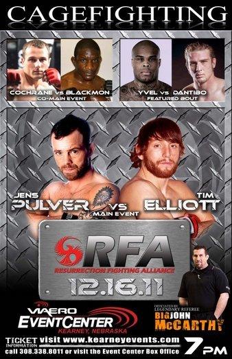 Resurrection-Fighting-Alliance-RFA-1-Pulver-Elliott-poster