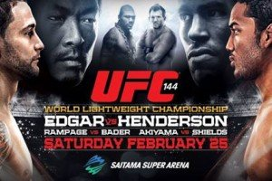 UFC 144: Edgar vs. Henderson Live Results