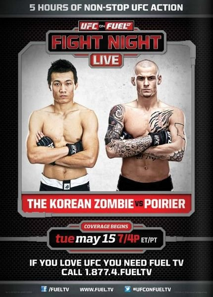UFC on Fuel TV Zombie_vs-_poirier