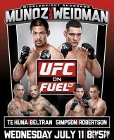 UFC on Fuel TV 4 Poster 162x200 Chris Weidman vaults himself into Possible title contention