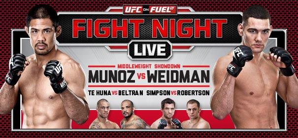UFC on Fuel TV 4 fight night
