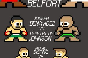 8-Bit MMA Poster UFC 152: Jones vs. Belfort