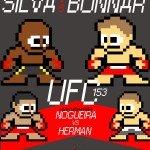 8-Bit MMA Poster – UFC 153: Silva vs. Bonnar