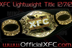 Someone's Getting a Shiny New Belt at XFC 21