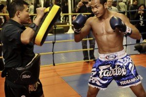 Yodsanklai Fairtex Workout/Interview Prior to Lion Fight 8