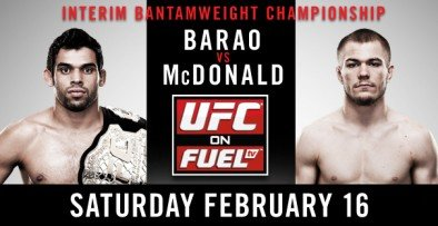 UFC ON FUEL TV 7: Barao vs. McDonald Results