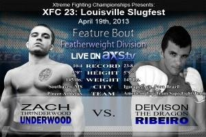 Featherweights Zach Underwood &#038; Deivison Ribeiro take Feature Spot at XFC 23