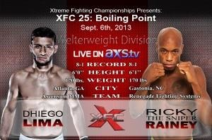 XFC 25 Co-Main Set with Ricky Rainey and Dhiego Lima