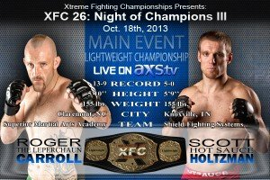 Scott Holtzman to make first title defense at XFC 26: Night of Champions 3