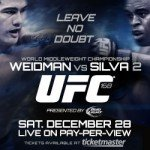The UFC 168 Fight Report