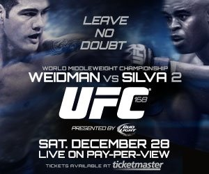 UFC 168 Bold Picks
