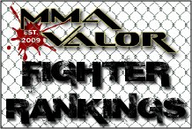 MMA Valor Fighter Rankings for February 2014