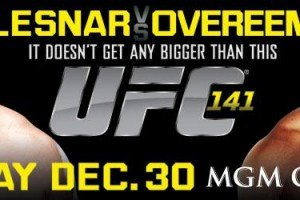 Tickets for UFC 141 go on Sale this Week