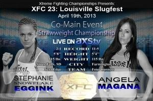 Stephanie Eggink vs. Angela Magana set as inaugural XFC Women's Strawweight Title Fight